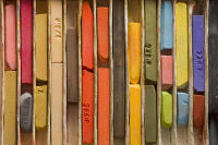 Photo  of Artist's Colored Pastel Crayons